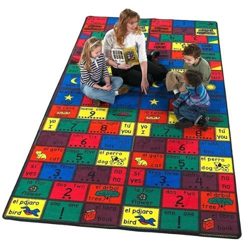 Educational Amigos Kids Rug Rug Size: 6' x 12' by Flagship Carpets