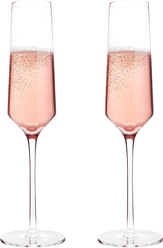 Classy Champagne Flutes By Bella Vino Hand Blown Crystal Champagne Glasses Made From 100 Lead Free Premium Crystal Glass Perfect For Any Occasion Great Gift 10 7 Oz Set Of 2 Clear
