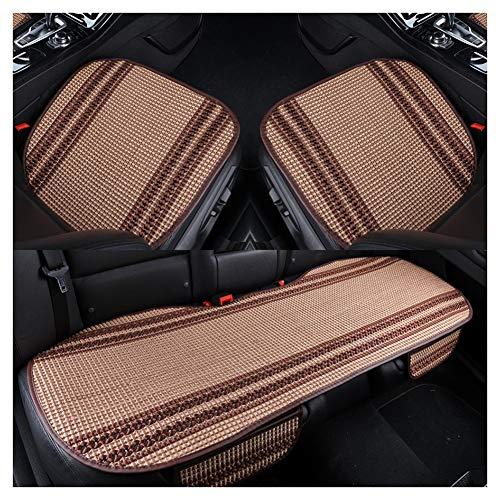 LIXIONG Fundas para Coche Asientos, Universal Coche Asiento Cubiertas Cómodo y Respirable Auto Interior Protector Estera para Oficina SUV 4 Colores (Color : Brown, Size : 133x50cm)