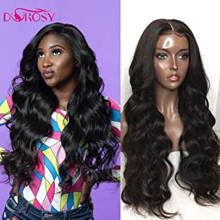 Dorosy Hair 360 Lace Frontal Wigs Free Part Body Wave Human Hair Brazilian Remy Hair Wigs Wet Wavy Lace Wigs Pre Plucked with Baby Hair(22inch with 180% density)