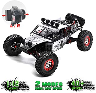 KELIWOW Updated Brushless RC Cars for Adult High Speed 1/12 RC Buggy 2.4Ghz 4WD Desert Off-Road Truck 45KM/h All Terrain RC Rock Fast Crawler Monster Car