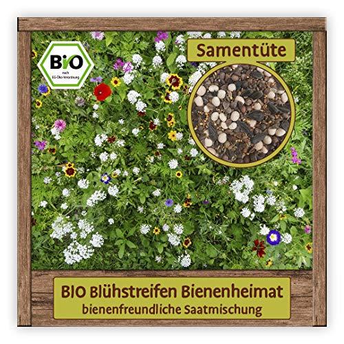 BIO Saatgutmischung Samen Sorte Blühstreifen (bienenfreundliche Saatmischung) Blumensamen Saatgutmischung Saatgut