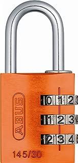 ABUS 145/30 Alumium Orange Combination Padlock