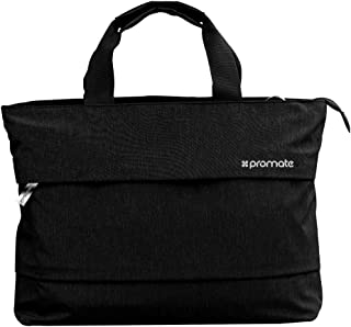 Promate Classic Design Handbag with Water Resistance for 13-inch Laptop, Desire-LD Black