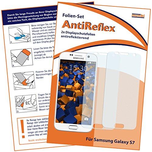 mumbi Schutzfolie kompatibel mit Samsung Galaxy S7 Folie matt, Displayschutzfolie (2X)