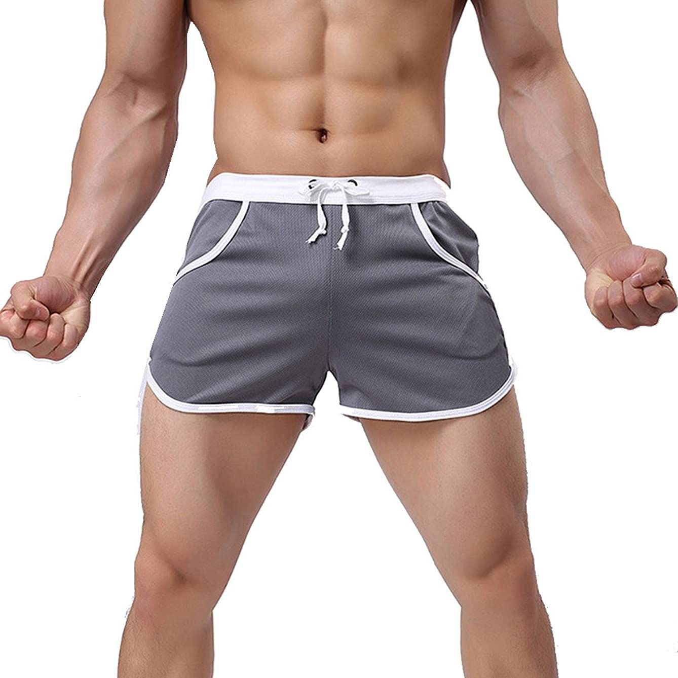 Sevem-D Summer Mens Jogger Sporting Shorts Slimming Men Bodybuilding Short Pants Fitness Gyms Shorts