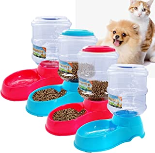 SOCHII 3.5L Plastic Automatic Pet Feeder Drinking Fountain for Cats Dogs Puppy Dog Food Bowl Dish Water Dispenser Feeding Pet Supplies
