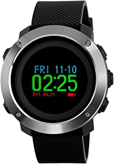 Skmei Mens Digital Sports Watches,Waterproof Pedometer Calorie Compass Stopwatch