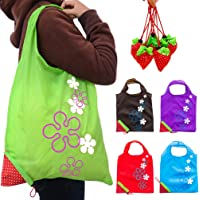 JASSINS Set of 10 Reusable Grocery Bags (5 Colors)