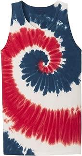 Joe's USA Koloa Colorful Tie-Dye Tank Tops in 10 Colors, Sizes S-4XL