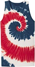 red white and blue tie dye tank