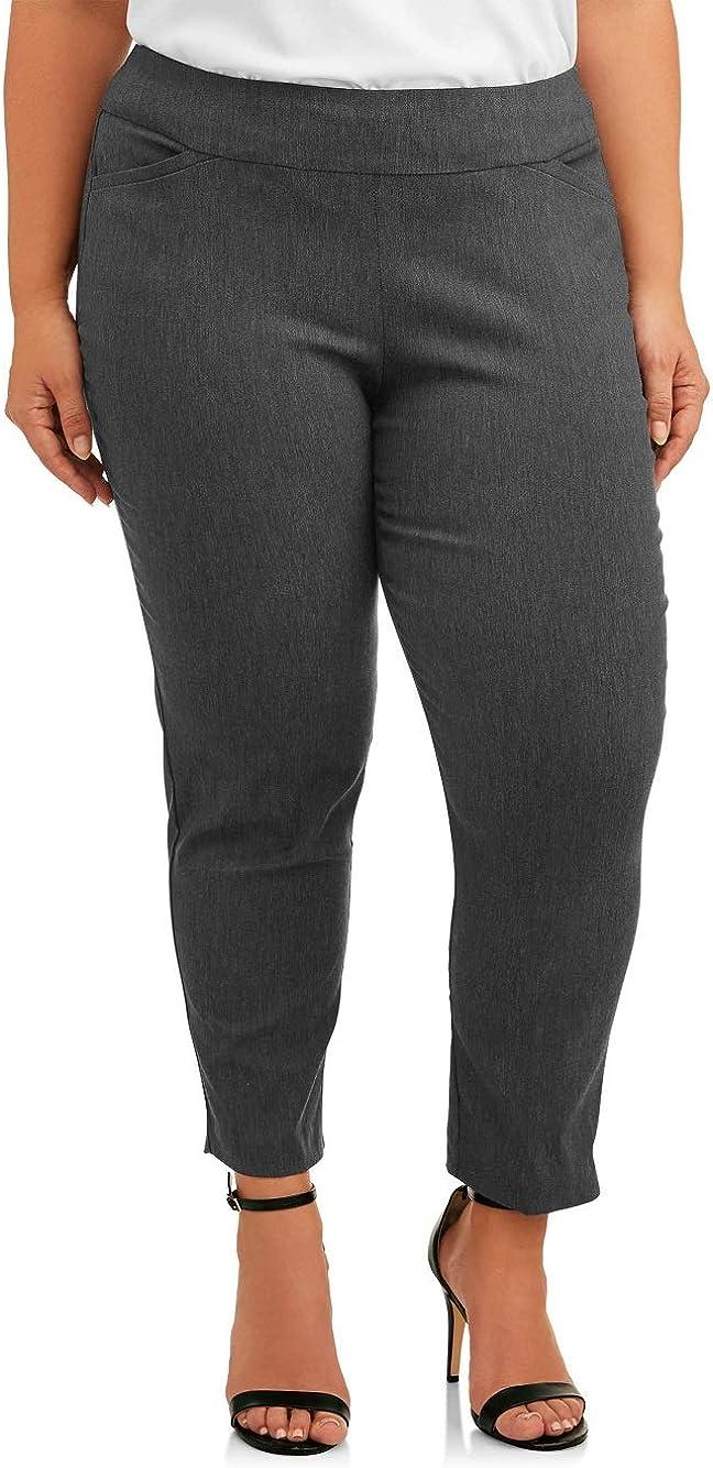 Terra & Sky Women's Plus Size Regular & Petite Dress Pant Millennium Pant