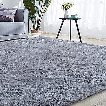 Qumig Ultra Soft 5.3x7.5 Feet Area Rug (Grey)