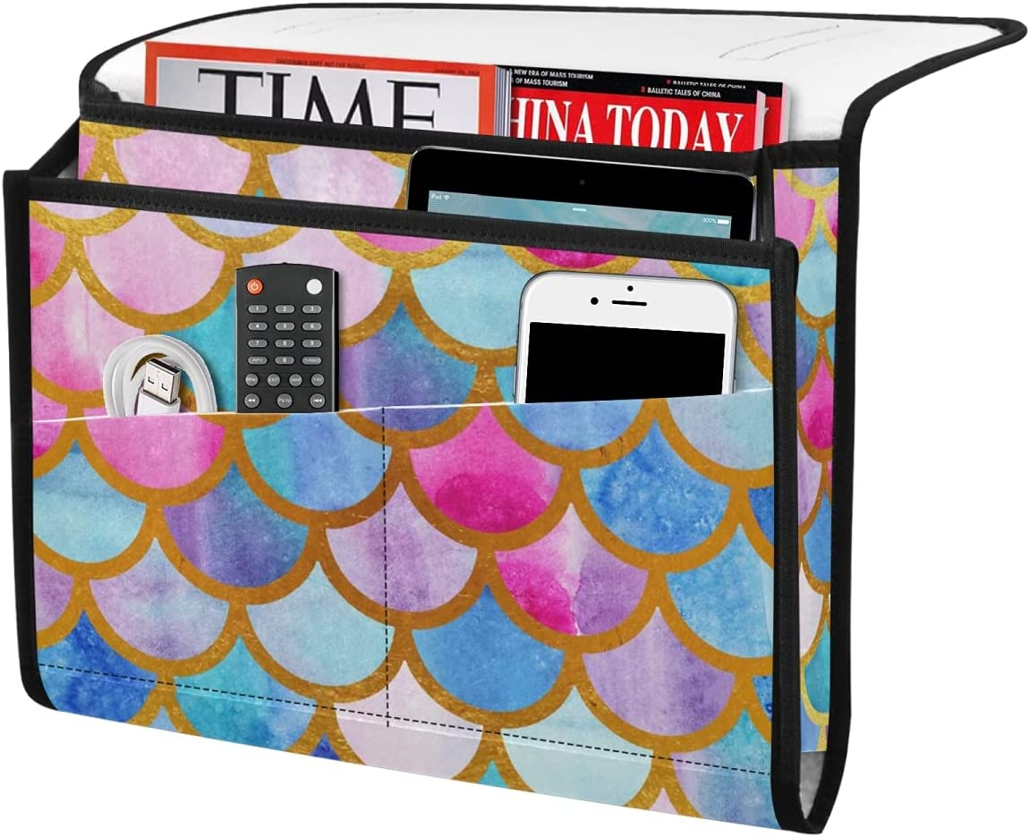 DOMIKING Mermaid Scales Bedside Challenge the lowest price of Japan Storage Organizer New product type Felt Caddy Bed