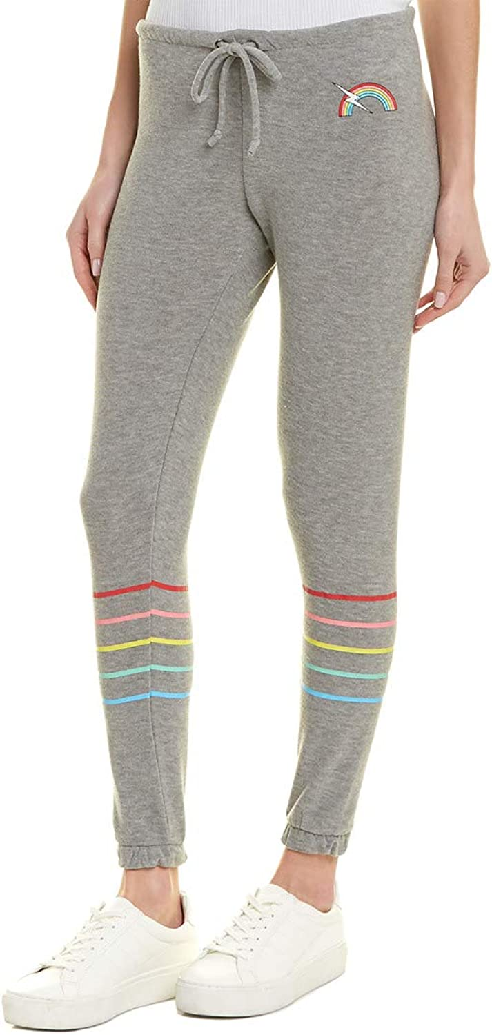 Chaser Women's Rainbow Bolt Cozy Knit Lounge Pants