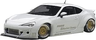 Rocket Bunny Toyota 86, Matt White/Gold Wheels 1/18 by Autoart 78756