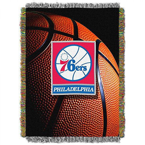 Philadelphia 76Ers NBA Triple Woven Jacquard Throw (019 Series) (48x60 )