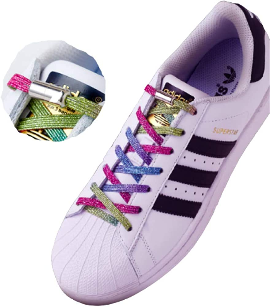 5 ☆ popular Elastic Shiny Metallic Shoelaces Stretchy No Tie Shoela Max 59% OFF
