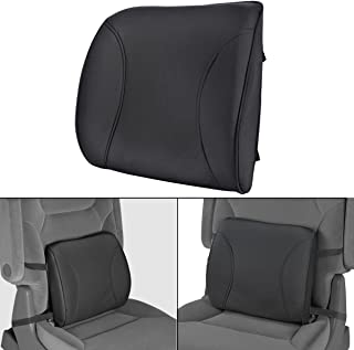 BDK BS-300-BK Durable Foam Lumbar Support 3D Balanced Firmness Cushion-Lower Back Pain Relief-Best for Office Chair, Car Seat, Recliner (Black)