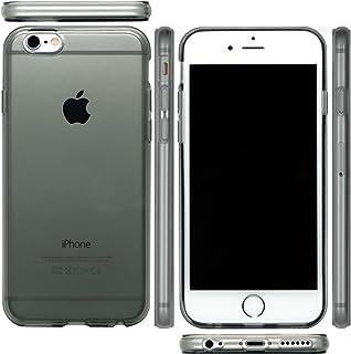 mtmd.jp iphone アイフォン 各種 対応 衝撃吸収 TPU ハード シリコン ケース カバー シンプル 透明 クリア つるつるタイプ (iPhone 7, スモーク)