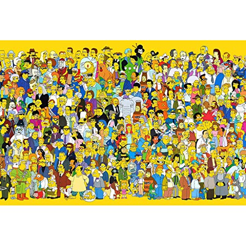 YC-PUZZLE HD Printed 300/500/1000 Pieces Wood Puzzle Anime Simpson (Color : B, Size : 1000pcs)