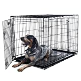 PETMAKER X-Large 2 Door Foldable Dog Crate Cage, 42 x 28 (80-421501)