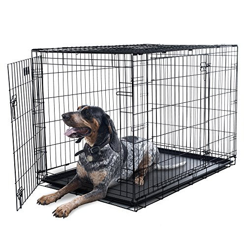 PETMAKER X-Large 2 Door Foldable Dog Crate Cage - 42 x 28 Inch