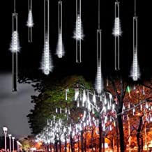 OMGAI Waterproof Meteor Shower Rain Lights - 30cm 8 Tubes Drop Icicle Snow Falling Raindrop Cascading Lights for Wedding P...
