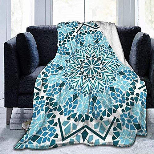 wobuzhidaoshamingzi Mosaik und Sterne Eastern Ultra-Soft Fleecedecke Flanell Velvet Plush Throw Blanket