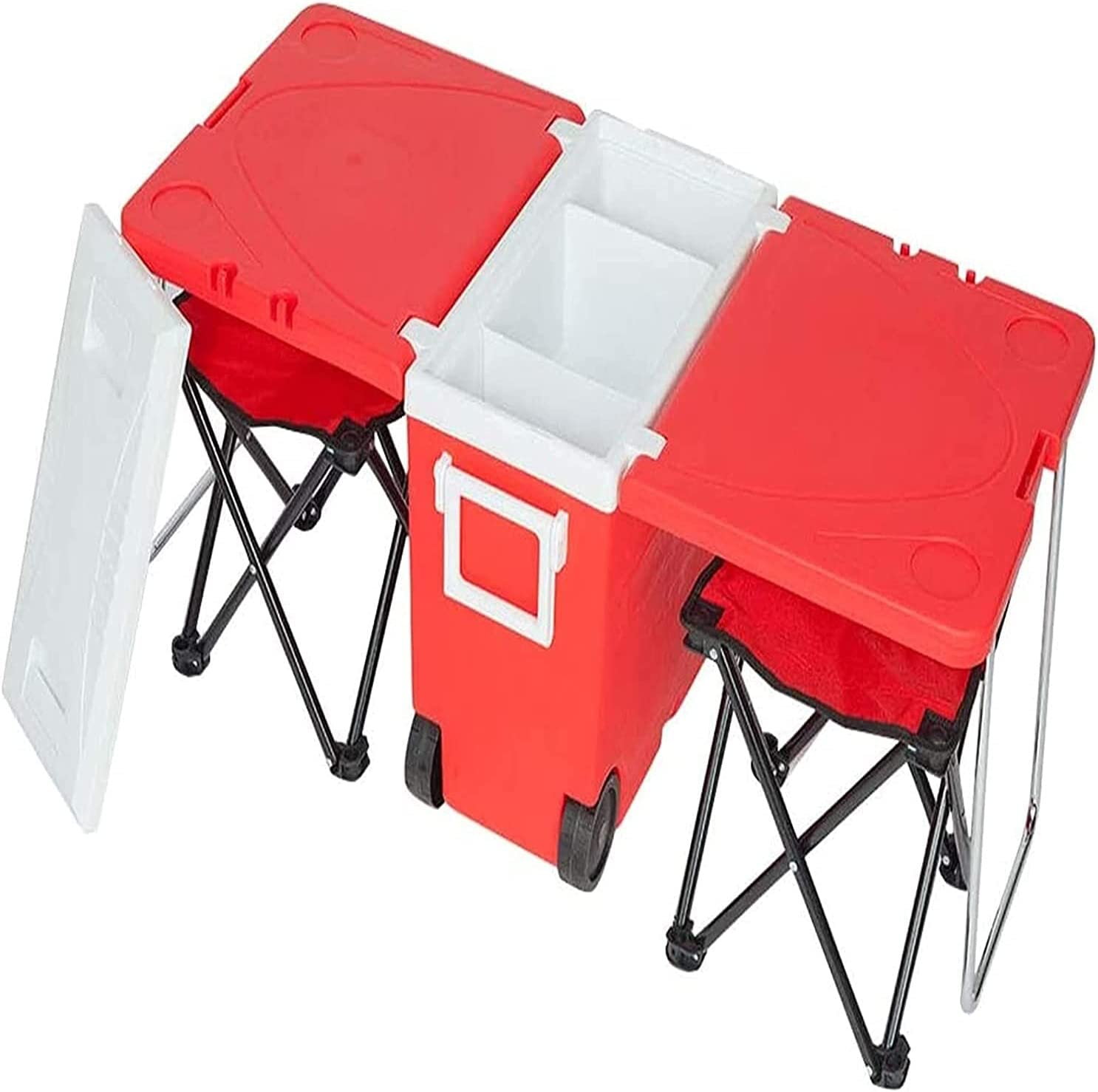 Philadelphia Mall HDHUIXS Compactly Outdoor Picnic Shipping included Multi-Function Foldable Rolling