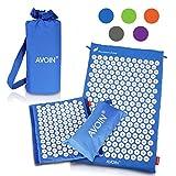 AVOIN colorlife Yogamatte - Alfombra de acupuntura 2pcs set / como una estera de extensión o...
