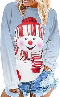Women's Christmas Santa Sweater Funny Cute Ugly Fashion Print Loose Sports Sweatershirt