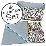 Wickeltasche + Wickeldecke Geschenk Design Blume Vintage Mamibox Set ❤ SmukkeDesign