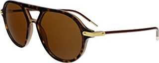 Dolce & Gabbana - 318573 Gafas de sol, Top Havana On Transparente Brown, 54 para Hombre