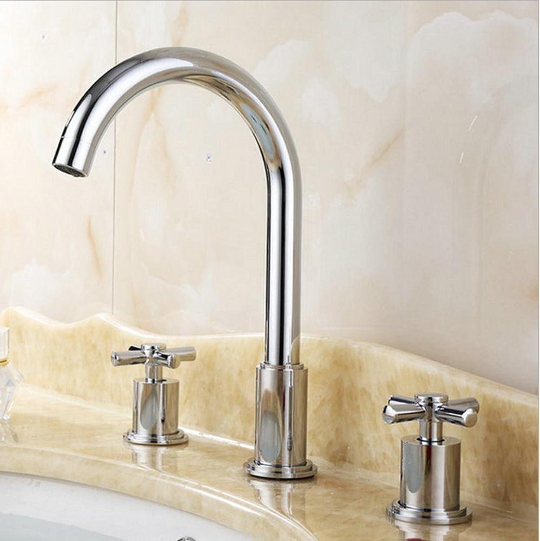 Modern Brass Swivel Single Lever Two Handle Kitchen Sink Faucet