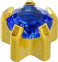 Caflon Blu 24 Carat Gold Plated Clawset September Birthstone Studs