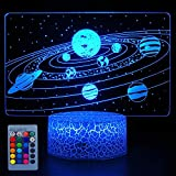 HYODREAM Solar System 3D Optical Illusion Lamp Universe Space Galaxy Night Light for Kids Boys and Girls as on Birthdays or Holidays (Solar System)…