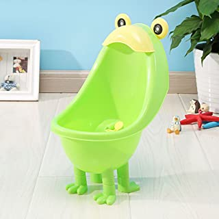 CdyBox Baby Wall Mounted Training Urinal Children Potty Toilet with Funny Whirling Target (Green)