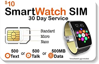 SpeedTalk Mobile Smart Watch SIM Card for 2G 3G 4G LTE GSM Smartwatches and Wearables..