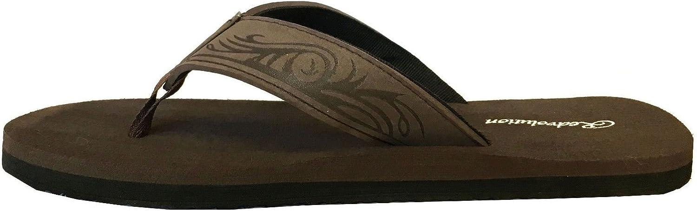 New Boys Beach Sandal Tribal Tattoo Geometric Bali Flip-Flop Sandals