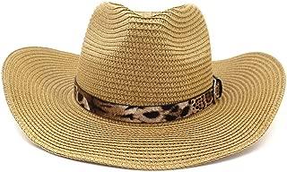 HaiNing Zheng Western Cowboy National Wind Male Women Couple Straw Hat Beach Hat Leopard Outdoor Seaside Sun Visor