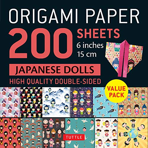 Origami Paper 200 sheets Japanese Dolls 6' (15 cm): Tuttle Origami Paper:...