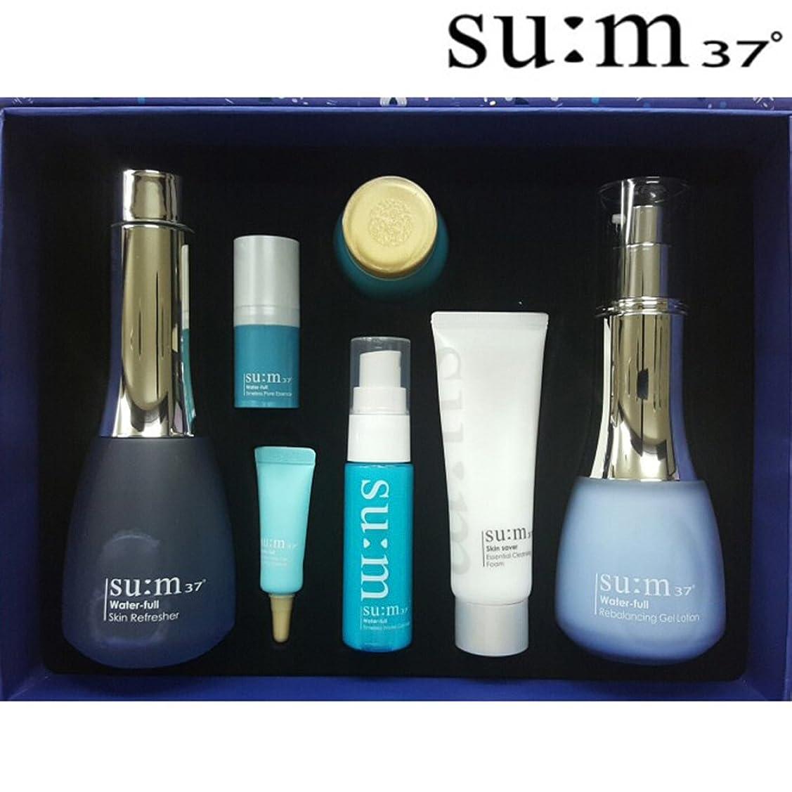 ロードされたステレオ対[su:m37/スム37°] Sum37 Water full 2 Piece Special Set / SUM37 ?スム37 ウォーターフルスキン+ジェルローション 2種 +[Sample Gift](海外直送品)