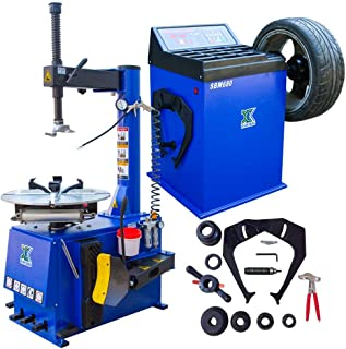 XK USA INC. New 1.5HP Tire Changer Wheel Changers Machine Combo Balancer Rim Clamp 560-680/12 Month Warranty