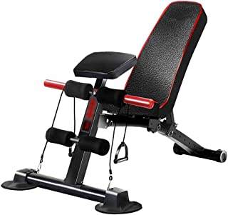 LAZ Adjustable Weight Bench Flat Incline Utility Exercise Workout Bench Sit Up Home Gym Equipment for Full Body Workout wi...