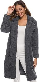 Women's Winter Jacket Fluffy Artificial Wool Coat Thick Long Sleeve Cardigan Outerwear