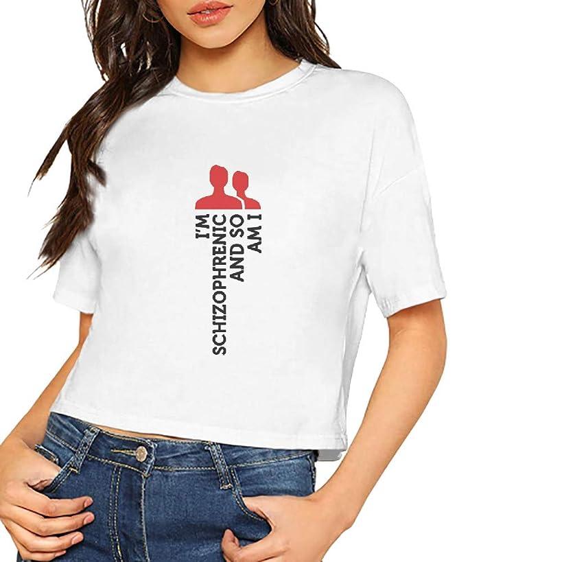 Women's T-Shirt Im Schizophrenic So Am Short Sleeves Lumbar Tee