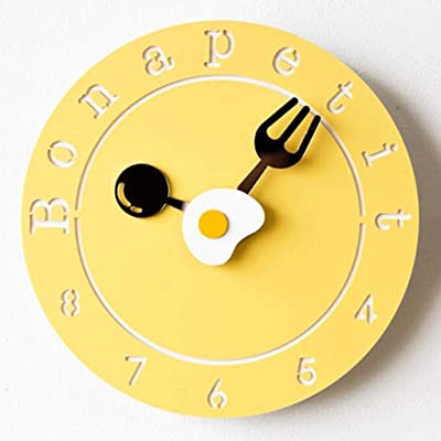 YHEGV Wall Clocks Wall Clock Modern Personality of The Mute Mode Hours Cute Home Hanging Table