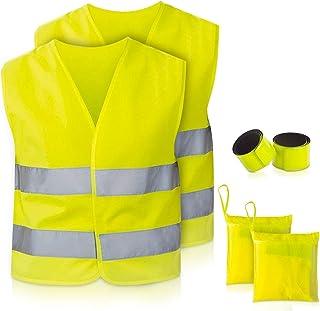 TN Sport Premium Warnweste Kinder (3 bis 12 Jahre), Reflektor Weste stark Sichtbar, Sicherheitsweste Warnwesten Kinder ISO Zertifiziert (3 bis 6 Jahre, 1er Pack)
