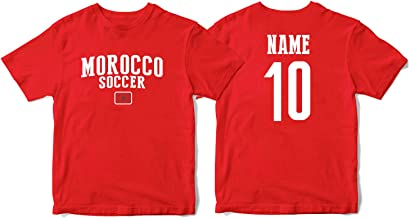 nobrand Morocco Men's Flag National Pride Man Soccer Team T-Shirt Soccer Jersey